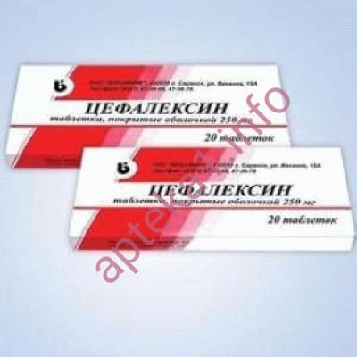 Цефалексин таблетки 250 мг №10