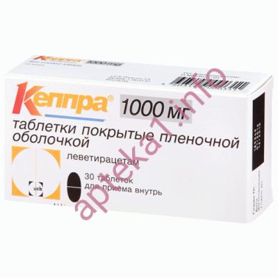 Кеппра таблетки 1000 мг № 30