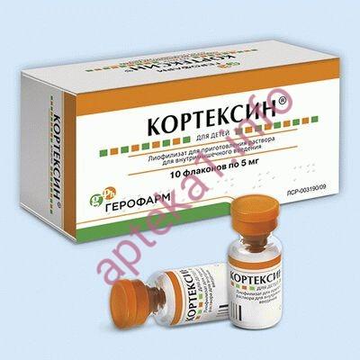 Кортексин флаконы 5 мг 3 мл №10