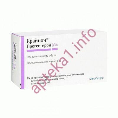 Крайнон гель вагинальный 90 мг №15
