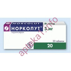 Норколут таблетки 5 мг №20