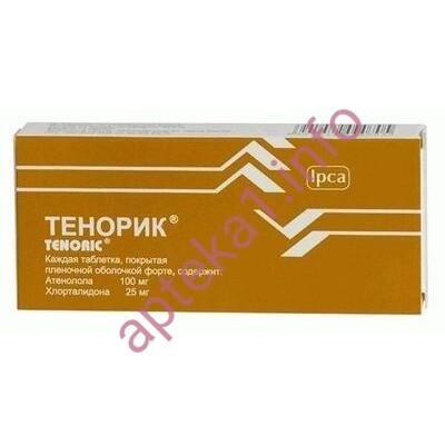 Тенорик таблетки 100 мг 25 мг №28
