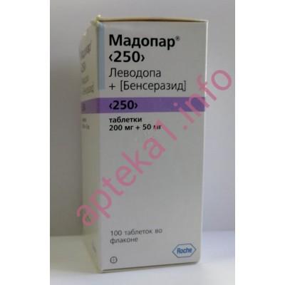Мадопар таблетки 250 мг №100