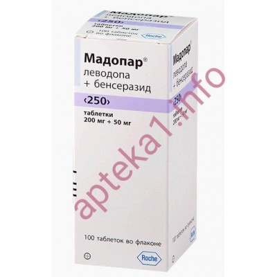 Мадопар диспергируемый 250 мг таблетки №100